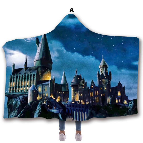 Christmas Harry Potter Adult/Kids Hooded Blanket