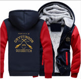 Unisex Harry Potter Cosplay Hoodie Jacket Winter Warm Fleece Hooded Sweatshirts Thicken Hoody Tops