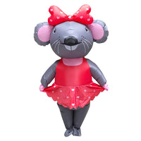Miss Mouse Anime Inflatable Costume Fancy Dress Mascot Adult Carnival Holiday Props