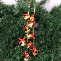 1.5M Christmas Decoration Bell 4CM Ten Golden Bells Long Strings Pendant Bow Party Home Bar Christmas Tree Decor