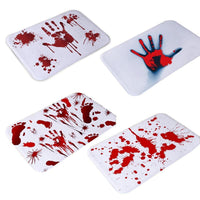 Terrible Halloween Red Blood Bath Mat Carpet Cushion Horrible Floor Area Rug