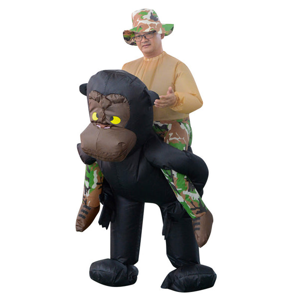 Fancy Adult Inflatable Clothing Halloween Costume Orangutan Riding Costume