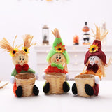 Halloween Scarecrow Children Toy DIY Handmade Creative Basket Gift Box Bag Decoration Ornament