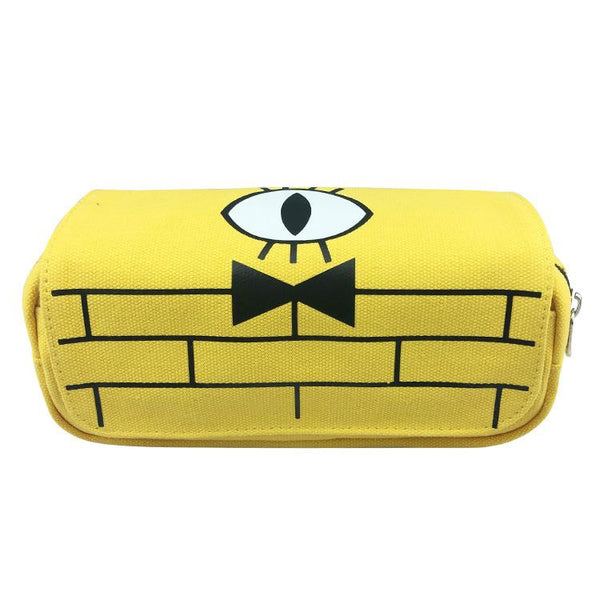 Gravity Falls Large Big Capacity Canvas Double Zipper Pen Bag Pencil Case