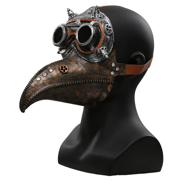 Retro Plague Doctor Latex Steam Punks Bird Beak Mask Halloween Cosplay Mask Unisex Latex Halloween Face Mask