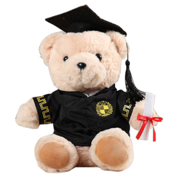 25cm Dr. Bear Graduation Gift 2020 Graduation Plush Bear with Black Cap for Grads Home Table Decorations