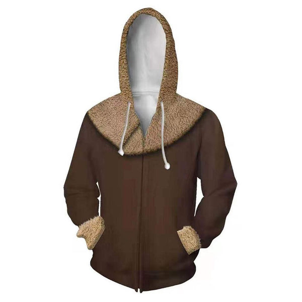 Unisex Baby Yoda Hoodies The Mandalorian Zip Up 3D Print Jacket Sweatshirt