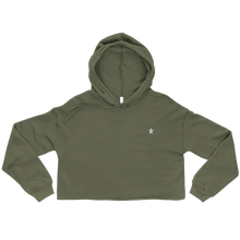 Load image into Gallery viewer, ESSENTIAL GREEN Crop Hoodie