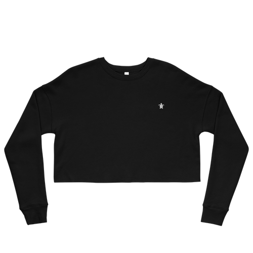 ESSENTIAL BLACK Crop Sweatshirt