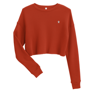 ESSENTIAL RED Crop Sweatshirt