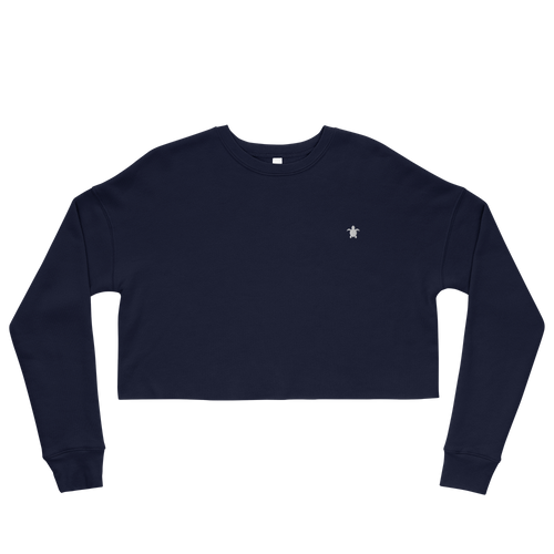ESSENTIAL NAVY Crop Sweatshirt