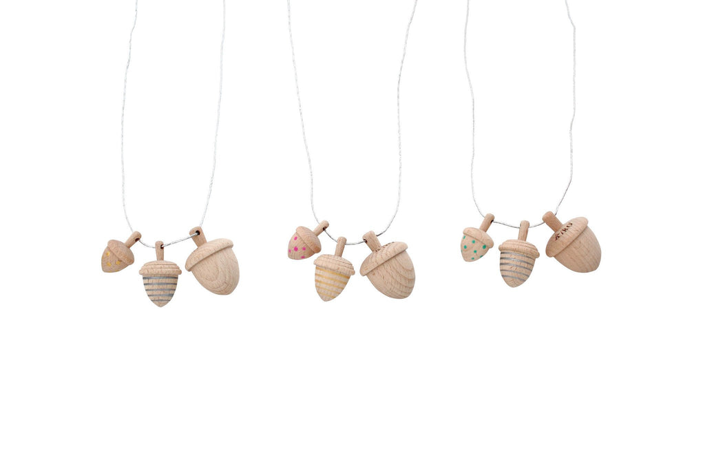 dongri - Mini Acorn Spinning Top Necklace