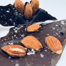 Load image into Gallery viewer, 70% Dark Chocolate Bark: Sweet Orange, Toasted Almonds & Alaskan Sea Salt - Farmhouse Chocolates