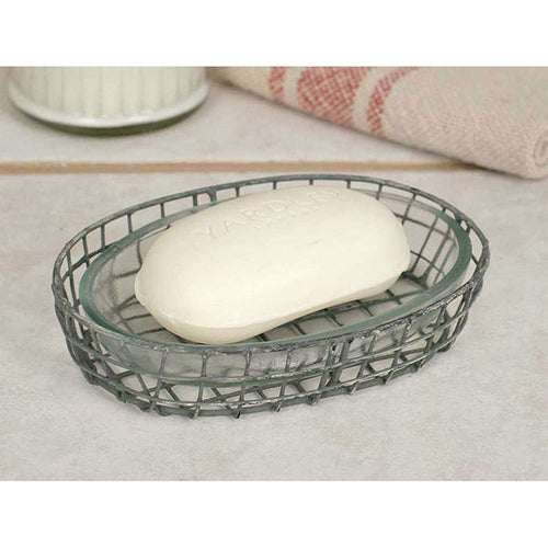 Oval Soap Dish with Glass Liner