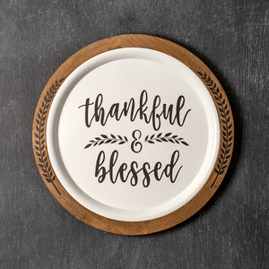 Thankful & Blessed Wall Decor