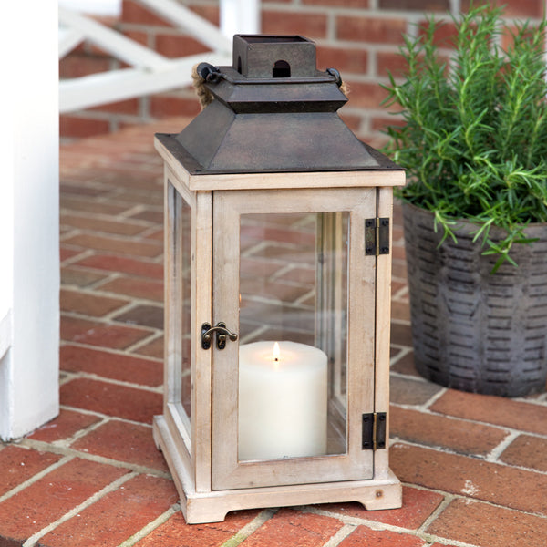 Small Rustic Wood Lantern