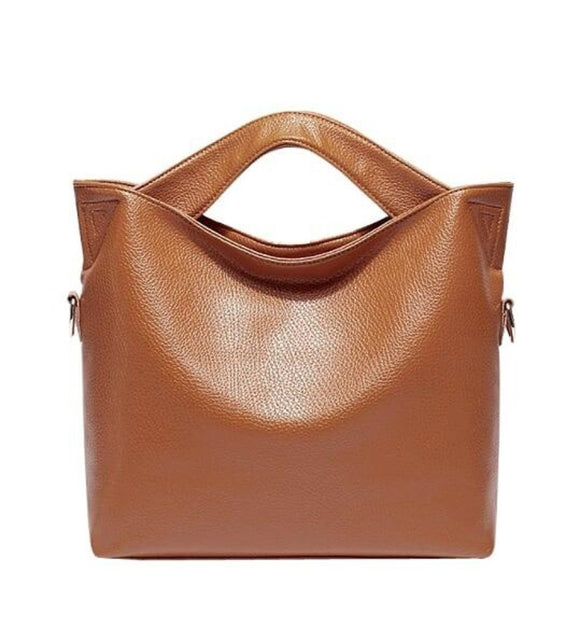 Top Handle Leather Shoulder Bag