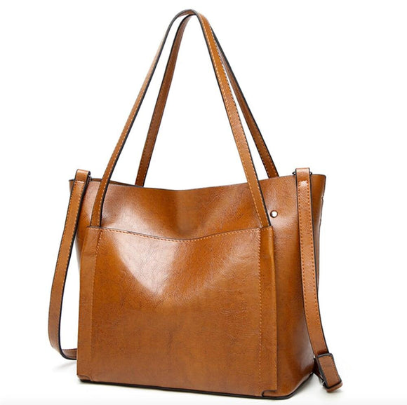 Womens  Tote Bag with Patch Pocket