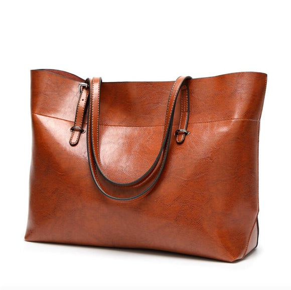 Womens Shopping Faux Leather Tote