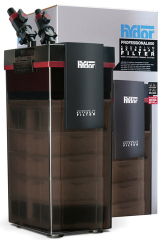 Hydor - Professional 600 External Canister Filter | 380-600 Liter Tank