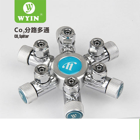 Wyin - 6 Way CO2 Splitter with needle Valve