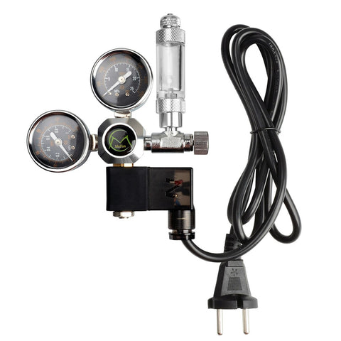 Mufan CO2 Dual Gauge Regulator with Solenoid & Bubble Counter