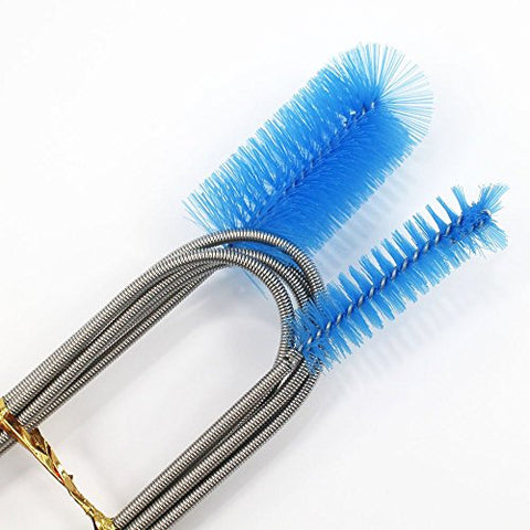 Stainless Flexible Cleaning Brush Double Ended - Canister Filter Hose Pipe Cleaner for Aquarium Fish Tank