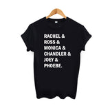 Rachel, Ross, Monica, Chandler, Joey, & Phoebe Graphic Tee.