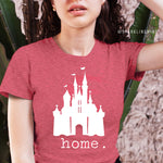 Disney is Home Heather Red Graphic Tee.