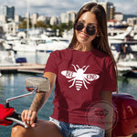 BEE KIND Maroon Unisex Graphic Tshirt.