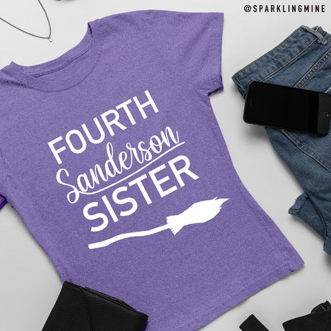 Fourth Sanderson Sister Purple Graphic Tee.