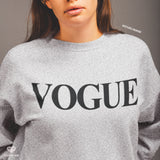 Vogue Heather Grey Graphic Sweatshirt.