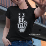 Peace Skull Fingers Graphic Tees.