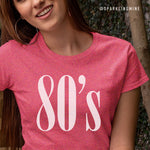80's Heather Red Soft Graphic Tee