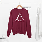 Deathly Hallows Burgundy Graphic Sweatshirt.