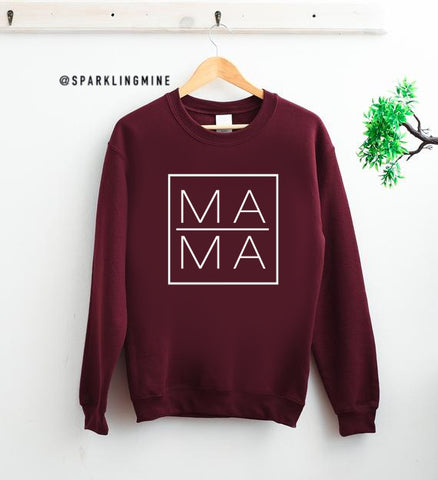 Mama Graphic Maroon Graphic Sweatshirt.