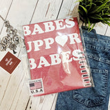 Babes Support Babes Heather Red Graphic Tees.