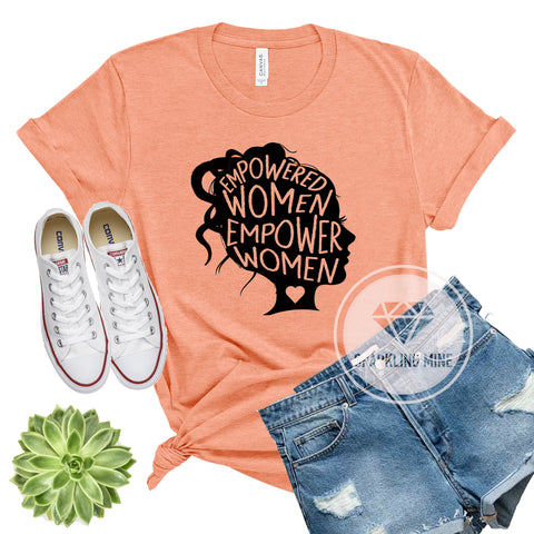 Empowered Women Empower Women Heather Sunset Graphic Tshirt.