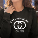 Champagne Gang Unisex Graphic Sweatshirt.