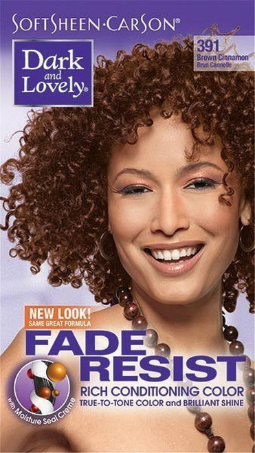 Dark & Lovely Fade Resistant Rich Conditioning Permanent Hair Color Kit, 391 Cinnamon Brown