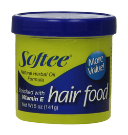 SOFTEE HAIR FOOD WITH VITAMIN E NATURAL HERBAL OIL FORMULA 5 oz.