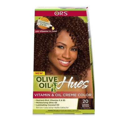 Organic Root Stimulator Hues Vitamin and Oil Creme Color Cocoa Brown