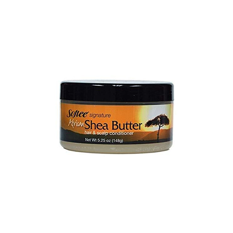 SOFTEE SIGNATURE AFRICAN SHEA BUTTER HAIR & SCALP CONDITIONER 5.25 oz.