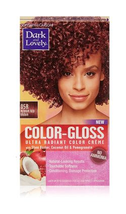 Dark & Lovely Color Gloss Ultra Radiant Color Crème, Medium Red Brown