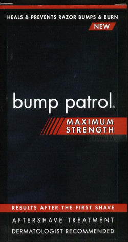 Bump Patrol Maximum Strength Aftershave Formula - After Shave Solution Eliminates Razor Bumps and Ingrown
