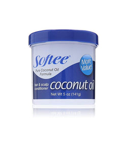 SOFTEE COCONUT OIL HAIR & SCALP CONDITIONER MOISTURIZER 5 oz.