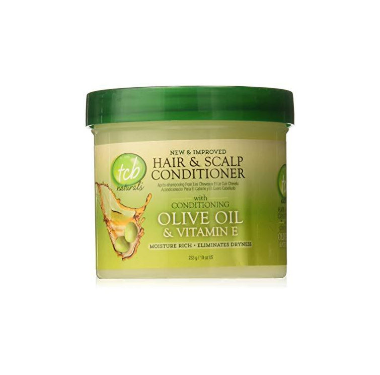 TCB Naturals Conditioner Hair & Scalp Olive Oil & Vitamin-E Jar, 10 Ounce