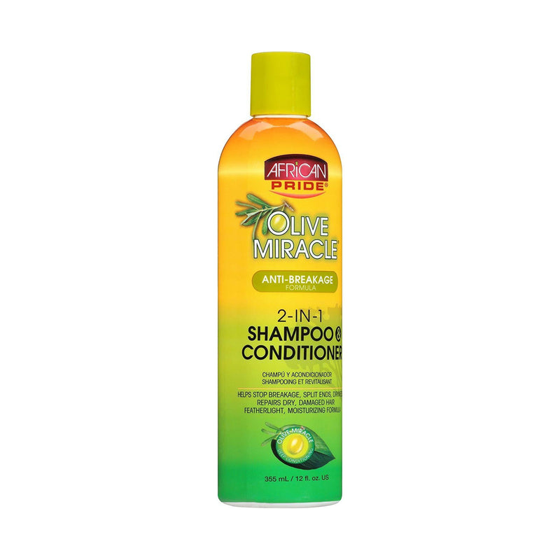 African Pride Olive Miracle 2-in-1 Shampoo & Conditioner 12 oz.