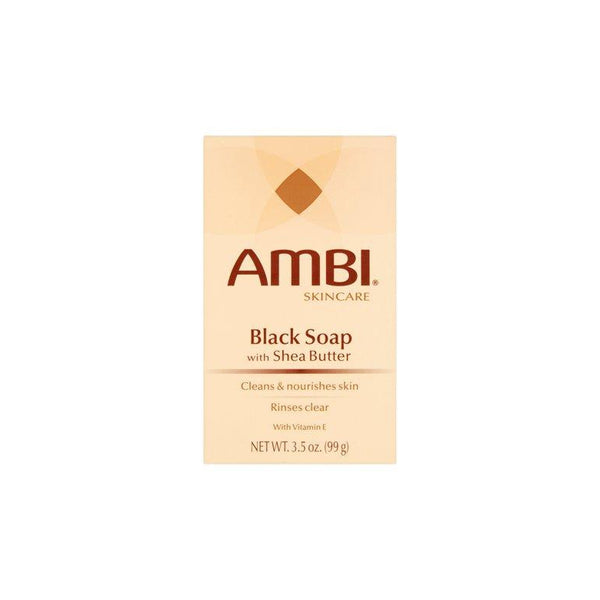Ambi Cleansing Bar Soap Black With Shea Butter 3.5 oz.