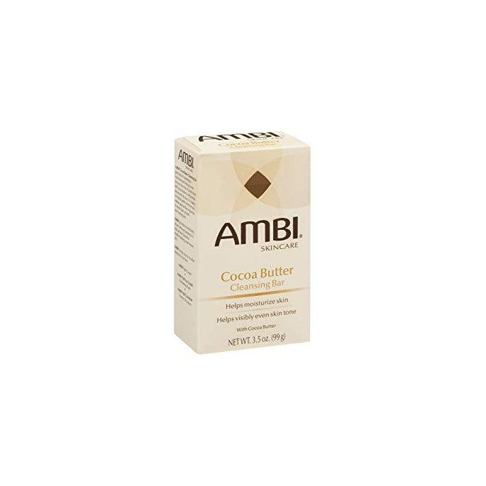 AMBI Skincare Cocoa Butter Cleansing Bar Moisturize Skin Soap 3.5 oz.